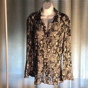 Women's 100 % polyester blouse